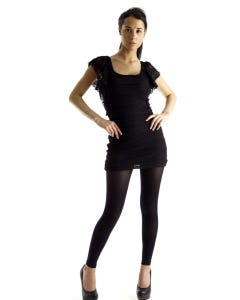 Absolute Support™ Opaque Graduated Compression Leggings with Control Top - Firm Support 20-30mmHg