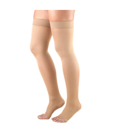 Truform 20-30 mmHg Firm Support Thigh High Closed and Open Toe -362