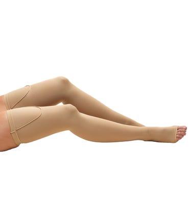 Truform 15-20 mmHg Medium Support Thigh High Open Toe -810