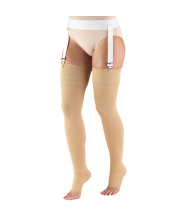 Truform 30-40 mmHg Extra Firm Support Thigh High Open Toe -846