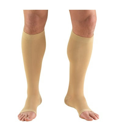 Truform 20-30 mmHg Firm Support Thigh High Open Toe -866