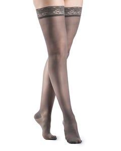 Sigvaris 120N Sheer Fashion Thigh High 15-20 Closed Toe