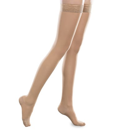 Therafirm 15-20 mmHg Medium Support Thigh High Closed and Open Toe - SHEEREASE-1520-THI