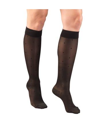 Truform 15-20 mmHg Medium Support Knee High Closed Toe -1782