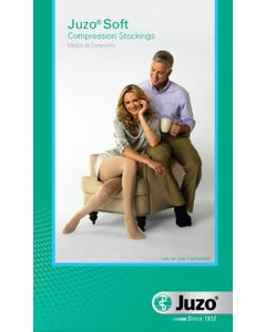 Juzo 15-20mmHg Medium Support Pink Size II Open Toe For Men and Women's Petite Knee High Stocking - 2000ADPE43 II