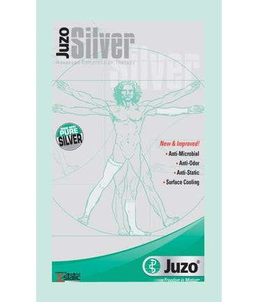 Juzo Silver Line Thigh High With Silicone Border 20-30mmHg