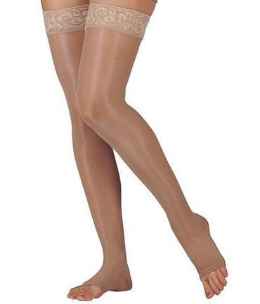 Juzo Naturally Sheer 2101AG - Thigh High 20-30mmHg With Silicone Border