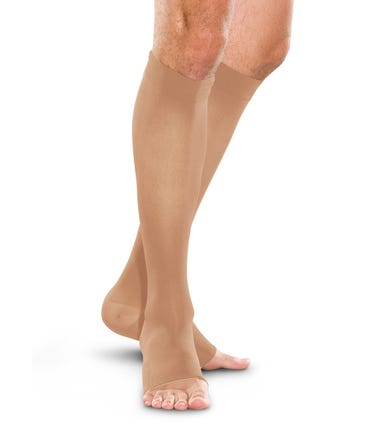 Therafirm 30-40 mmHg Extra Firm Support Knee High Open Toe - OT-3040-KHI