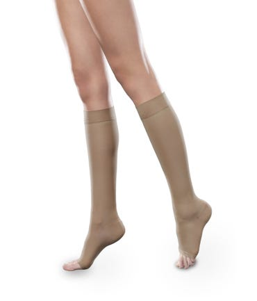 Therafirm 30-40 mmHg Extra Firm Support Knee High Closed and Open Toe - SHEEREASE-3040-KHI