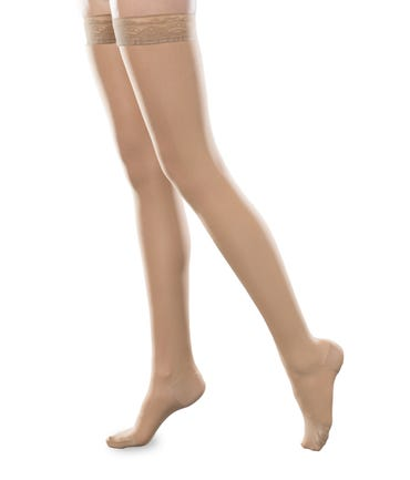 Therafirm 30-40 mmHg Extra Firm Support Thigh High Closed and Open Toe - SHEEREASE-3040-THI