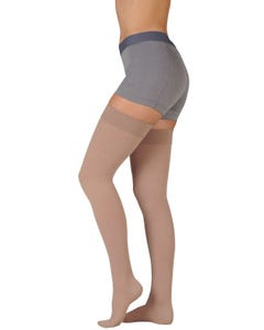 Juzo 20-30mmHg Firm Support Pink Size V Closed Toe For Men and Women's Regular Thigh High - 3511AGFFSB43 V