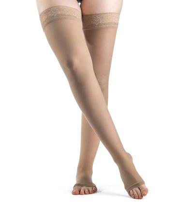 Sigvaris 781N EverSheer Thigh High 15-20 With Silicone Grip Top