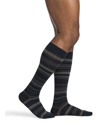 Sigvaris Microfiber Shades Striped Knee Hi 20-30mmHg