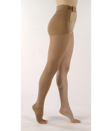 Sigvaris 863W Thigh High With Waist Attachments 30-40 Open Toe