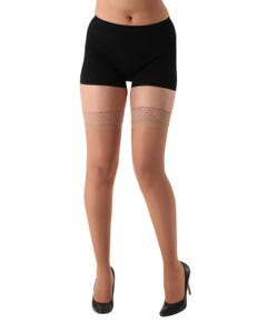 Absolute Support™ Sheer Compression Stockings with Lace Top - Medium Support