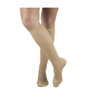 Absolute Support™ Microfiber Compression Knee Hi, Open & Closed Toe, Unisex - Medium Graduated Support 15-20mmHg