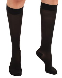 Absolute Support™ Opaque Sheer Support Knee Hi - Firm Compression 20-30mmHg