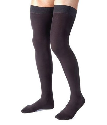 Absolute Support™ Compression Stockings for Men - Made in the USA - Thigh High with Grip Top - Firm Graduated Compression 20-30mmHg
