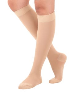 Absolute Support™ Opaque Medical Compression Knee Highs - Firm Support 20-30mmHg – Unisex