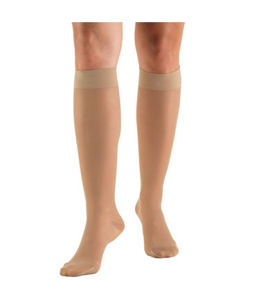 Absolute Support™ Sheer Compression Socks, Knee High, Firm Graduated Support 20-30mmHg