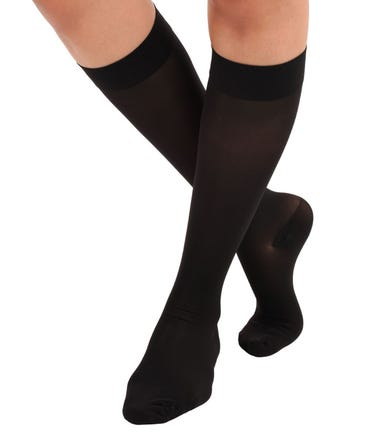 Absolute Support™ Opaque Sheer Medical Compression Knee Highs - X-Firm Graduated Support 30-40mmHg – Women, Closed Toe