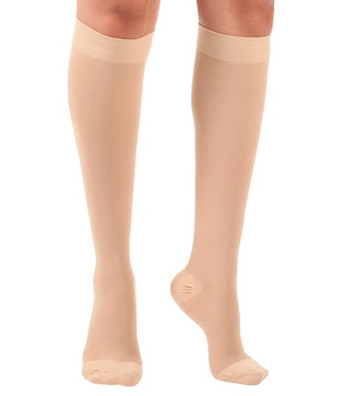 Absolute Support™ Opaque Medical Compression Knee Highs - X-Firm Graduated Support 30-40mmHg – Unisex, Open & Closed Toe