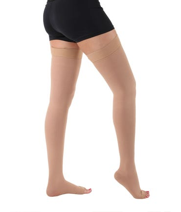 Absolute Support™ Opaque Compression Stockings - Thigh Hi with Grip Top, RX Graduated Compression 40-50mmHg - Unisex