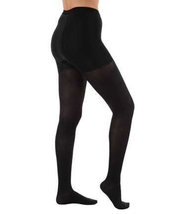 Absolute Support™ Microfiber Support Opaque Tights with Control Top - Medium Compression