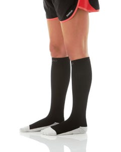Mojo Compression Socks™ Silver Blend Compression Socks, with soft Terry Foot and Heel - Firm Support 20-30mmHg, Unisex