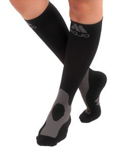Mojo Compression Socks™ Mojo Coolmax Compression Socks with Cushioned Terry Foot and Heel - Firm Graduated Support 20-30mmHg