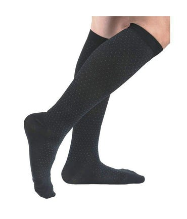 Absolute Support™ Microfiber Pin Dot Dress Compression Socks for Men - Medium Support 15-20mmHg