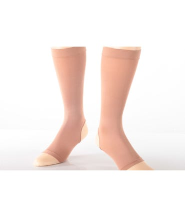 Absolute Support™ Opaque Compression Knee High with Open Toe & Open Heel 20-30mmHg