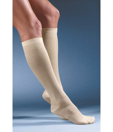 Activa H28 Women's Crosshatch Diamond Patterned Socks 15-20mmHg Closed Toe