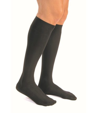 Jobst For Men Casual Medium Support Knee High 15-20mmHg Compression Closed Toe