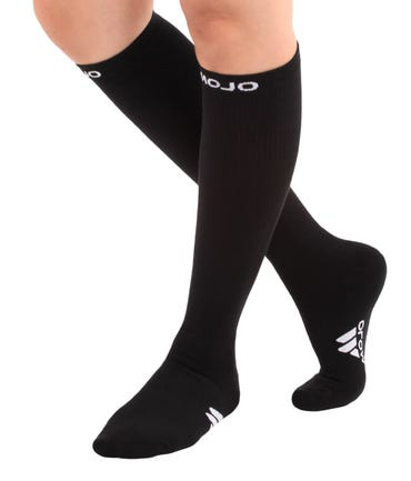 Mojo Compression Socks™ Coolmax Compression Socks, Athletic Over-The-Calf Style, Firm Support Socks 20-30mmHg, Unisex
