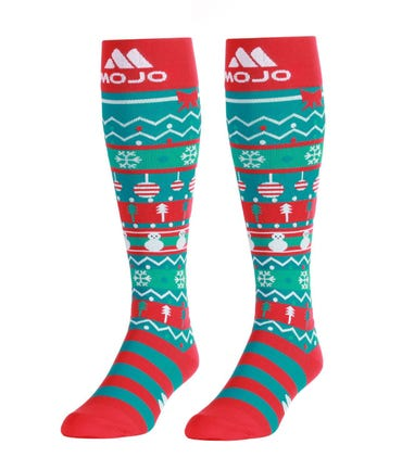 Mojo Compression Socks™ Mojo Sport Christmas Compression Socks - Firm Support 20-30mmHg