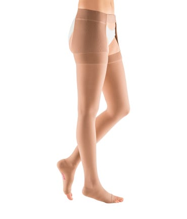 Mediven Plus Thigh High With Waist Attachment 40-50 Open Toe