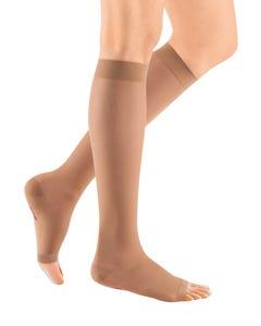 Mediven 15-20mmHg Medium Support Ebony Size II Open Toe Women's Standard Calf High Stocking - 39152