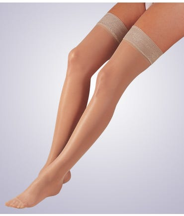 Activa H202 Sheer Therapy Thigh Hi W/Lace Top 15-20mmHg Closed Toe