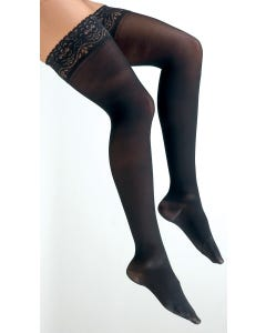 Activa H38 Soft Fit Thigh High W/Lace Top 20-30mmHg Closed Toe