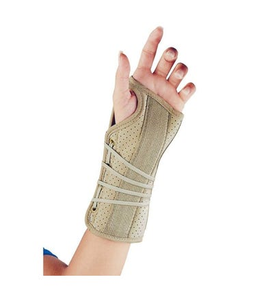 FLA 22-150 Soft Fit Suede Finish Wrist Support Brace, Right