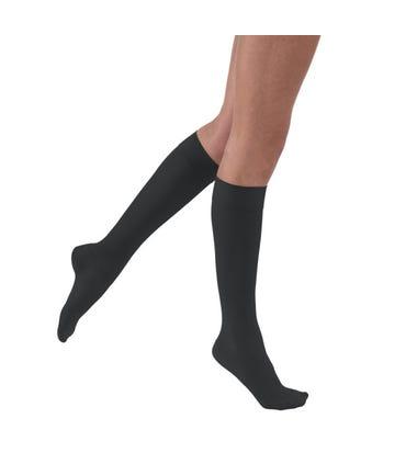 Jobst SoSoft Light Support Knee High Brocade/Ribbed Style Closed Toe 8-15mmHg
